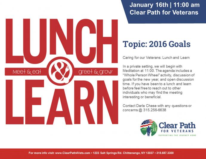 lunch and learn 2016 goals clear path for veterans